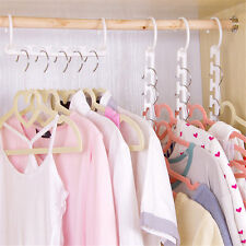 Space Saver Clothes Hanger Rack Plastic Clothing Closet Organizer Hook