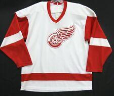 Men's Vintage Detroit Red Wings CCM Maska Sewn NHL Hockey Jersey Medium M