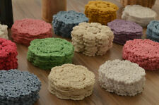 """Lot 15 Hand Crochet 4"""" Round Small Doilies Set Snowflake Floral"""