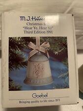 Goebel Mj Hummel Christmas Bell 1991