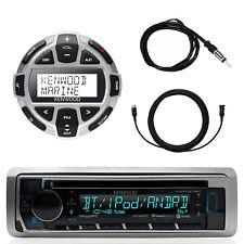 Kenwood Marine CD Bluetooth UBS Receiver, 1x Digital Wired Remote, Accessories