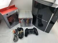 Backwards Compatible PS3 Sony PlayStation 3 60GB CECHA01 1 Controller & 10 Games