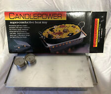 Vintage Metrokane Candlepower Super conductive Heat Tray Warmer Food buffet