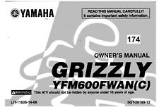 Yamaha Owners Manual Book 2001 Grizzly 600 YFM600FWAN(C)