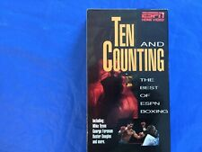 Espn Ten and Counting.the best of Boxing , Tyson, Foreman, Douglas + more.Vhs