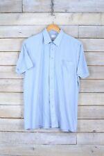 Vintage Azul Bebé Camisa de rayas (L)