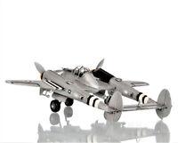 "Lockheed P-38 Lightning Heavy Fighter Bomber Metal Model 13"" WWII Airplane Decor"
