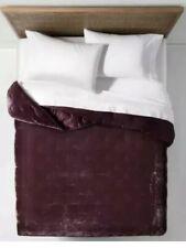 Opalhouse Velvet Tufted Stitch Merlot Twin/XL QUILT Burgundy New