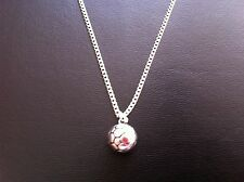"MENS BOYS SOCCER FOOTBALL CHARM NECKLACE 18"" SILVER CHAIN IN GIFT BAG"