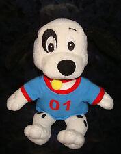 "7"" 101 DALMATIANS DISNEY PLUSH DOLL Cartoon Dog Puppy Pup Doggy 01 Black White"