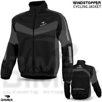 Men Cycling Jacket Windstoper Winter Thermal Fleece Windproof Long Sleeve Coat