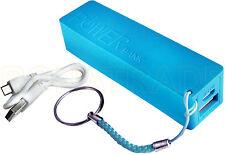 Powerbank 2600mA supplément Batterie rechange appareil mobile, Couleur Bleu