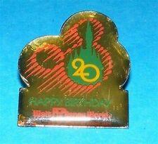 Disney Pin Walt Disney World Happy 20th Birthday Castle & Mickey Icon