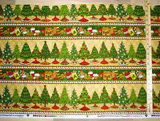 Ginger Trees Gingerbread Christmas Fabric Sampler by the 1/2 Yard #76324
