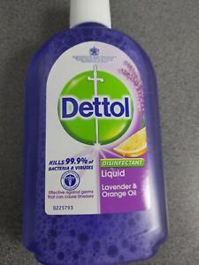 Cheapest On eBay X2 Dettol Lavender Orange Oil Disenfected Liquid 500ml