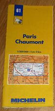 Carte MICHELIN N° 61 - Paris - Chaumont 1986