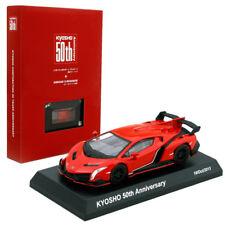 1:64 Kyosho Minicar Lamborghini Veneno Red 50th Anniversary Memorial Book Set SE