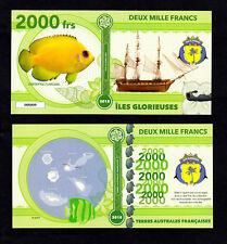 ILES GLORIEUSES ● TAAF / COLONIE ● BILLET POLYMER 2000 FRANCS ★ N.SERIE 000009