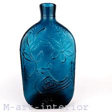 vintage Nuutajärvi Glas Vase Oiva Toikka textured Glass Bottle Finland 1960s