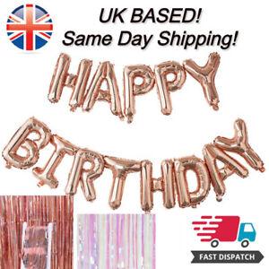 "16"" HAPPY BIRTHDAY SELF-INFLATING BALLOON BANNER BUNTING 13 BALOONS fast dispatc"