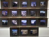 Lot of 18 Boston 1970s 1980s 35mm Slide Original Slides Street Scene Skywalk