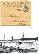 NED INDIE S.M.N.1927-3-27 -S.S.GROTIUS= AAN PASSAGIER + DOC  F/VF