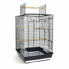 Open Top Bird Cage for Canary Parakeet Cockatiel Budgie Small Parrot Travel Cage