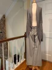 Vince Gray Knit Long Sleeve Slouchy Cardigan High Low Hem Large