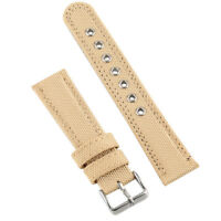 22mm Military Army Nylon Leather Watch Band Strap Bracelet Replacement Buckle