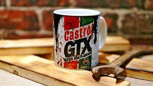 retro mug vintage sign distressed effect oil can mug workshop