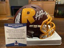 Dwayne Haskins Autographed Washington Redskins AMP Mini Helmet Beckett #2