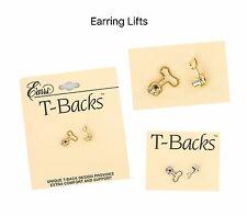 Earrs T Backs Earring Lifts Pierced Ear Lobe Support Stabilizer Stud / Post