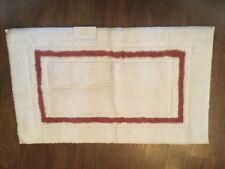 "NWT Kassatex Rust Paprika & White Bath Mat, 24"" x 39"", From Horchow"