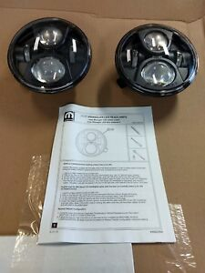 2011 2018 Jeep Wrangler JK LED Performance Off Road Headlights New MOPAR