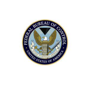 Federal Bureau Of Control Sticker Vinyl Decal 4x4 inch 7-114
