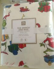 Pottery Barn TEEN GRINCH & MAX Christmas Holiday QUEEN Cotton Flannel Sheet Set