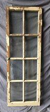 Antique Oak 8 Lite Casement Window Cabinet Old Shabby Vintage Chic 22X64 322-18C