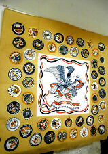Vintage 1776 1976 Bicentennial Scarf With Eagle & State Buttons Unused