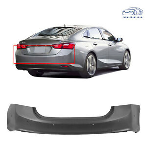 Rear New Bumper Cover for 2016 2017 2018 Chevy Chevrolet Malibu