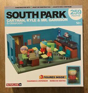 South Park McFarlane Building Set Classroom Mr. Garrison, Kyle & Cartman 259 PCS