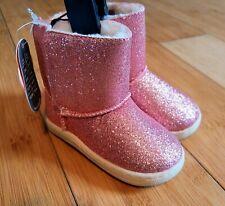 Wonder Nation Sparkly Faux Fur Boots Glitter Hot Pink Infant Baby Toddler Girl 5