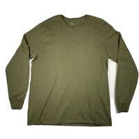 Jerzees Long Sleeve Shirt Men's Size Large Green Crew Neck
