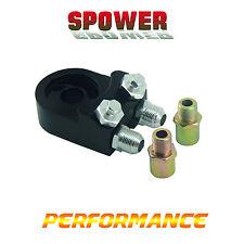 Universal AN8 Oil Cooler Filter Sandwich Adapter Plate 3/4-16UNF Black M20X1.5
