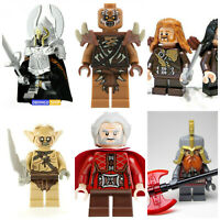 Lord Of The Rings Hobbit Dwarves lego Mini Figures Toys Orcs Goblins Gondor
