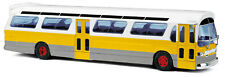 Busch 44518 US Bus » Fishbowl«, Yellow + Signs, Model 1:87 (H0)