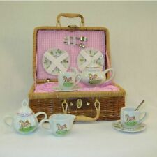 Delton Pony Porcelain Tea Set in Basket, Large