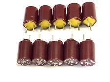 2,2uF, 2.2µF, 63V, RM 5, Roederstein, EK-Serie  ROE, Bakelit Elko, 10 Stück