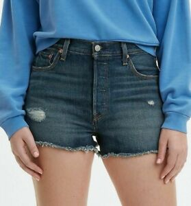 NWT $70 Levi's Jeans 501 High-Waisted Denim Short in Silverlake Blue 30