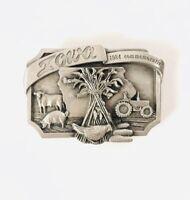 Iowa Vintage 1984 Commemorative Farm Siskiyou Belt Buckle, Limited Edition NOS