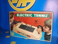Juguete vintage ELECTRIC TENNIS  de VALTOY- juego electromecanico años 70